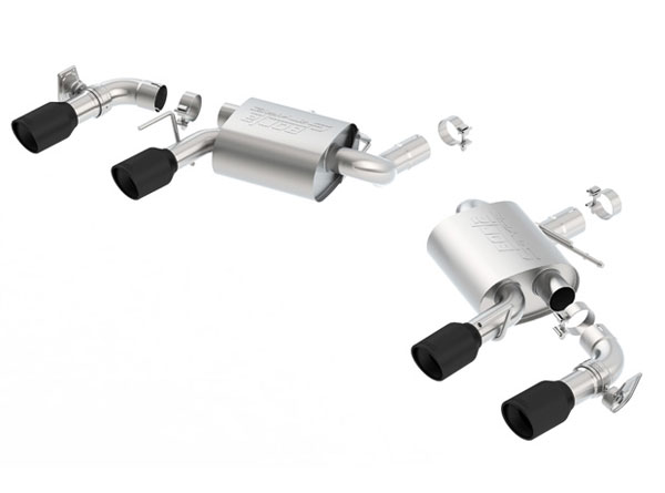 Borla Exhaust 11924CB | Borla Camaro SS S-Type Rear Section Exhaust W/ Dual Mode Exh. (NPP) Ceramic Black Tips; 2016-2019