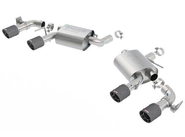 Borla Exhaust 11924CF | Borla Camaro SS NPP Exhaust System - Rear Section Axle-Back - S-Type - Carbon Fiber Tips; 2016-2019