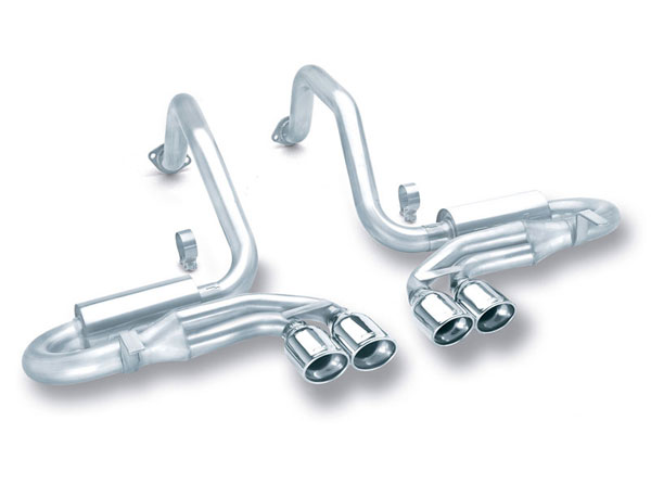 Borla Exhaust 140039 | Borla CORVETTE 5.7L AT/MT Oval Tips C5 - Sport System; 1997-2004