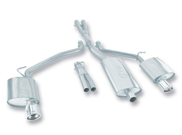 Borla 140197: Borla Exhaust System: DODGE CHARGER SXT/SE 3.5L V6 RWD/AWD AT 4DR 2005-06 DUAL REAR EXIT