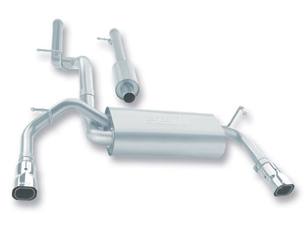 Borla 140218:  JEEP Wrangler Unlimited 2007-09 3.8L Stainless Steel Cat-Back System