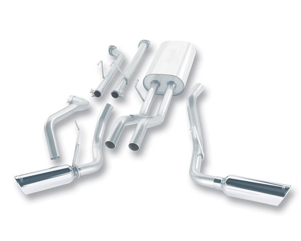 Borla Exhaust 140238 | BORLA Tundra 5.7L Stainless Steel Cat-Back System; 2007-2008