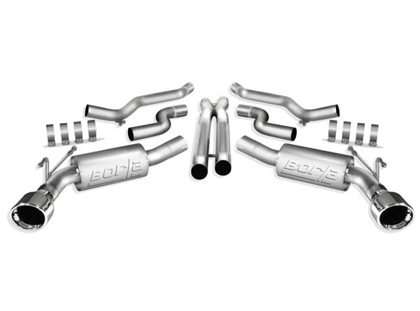 Borla Exhaust 140280 | Borla Camaro V8 Exhaust System with X pipe - Sport; 2010-2013