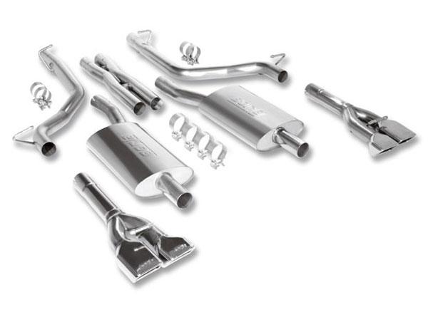 Borla Exhaust 140297 | Borla Dodge Challenger RT 5.7L V8 RWD AT/MT 2DR Cat-Back System; 2009-2014