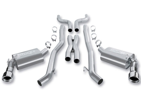 Borla Exhaust 140348 | Borla Chevrolet CAMARO 6.2L V8 RWD AT/MT 2DR Cat-Back System; 2010-2013
