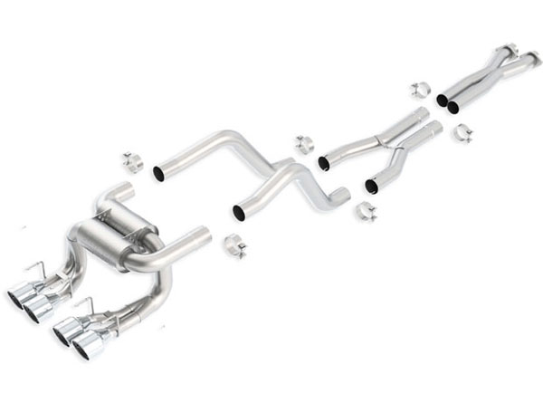 Borla Exhaust 140422 | Borla Chevrolet CORVETTE Z06 ZR1 Stainless Steel Cat-Back System ATAK; 2006-2012