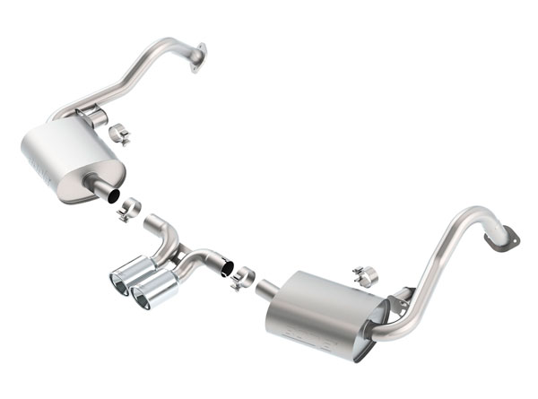 Borla Exhaust 140534 | Borla Porsche Boxster S-Type Cat-Back Exhaust System, S, GTS, Black Edition, Base H6 3.4, 2.7; 2013-2016