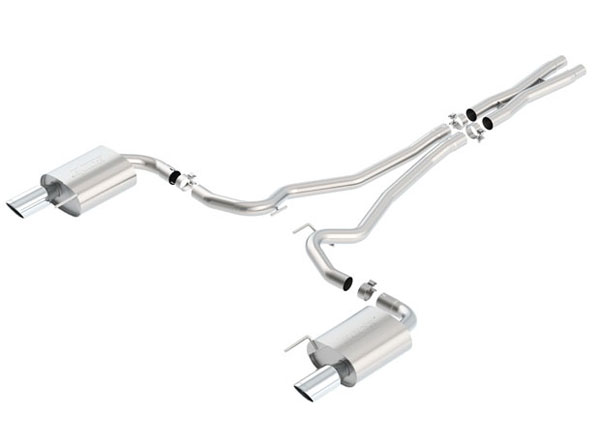Borla 140590:  Mustang GT 2015-2016 Cat-Back Exhaust S-Type