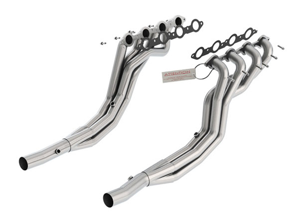 Borla Exhaust 17249 | Borla Camaro V8 Longtube Headers to Stock Hpipe - removes cats; 2010-2012