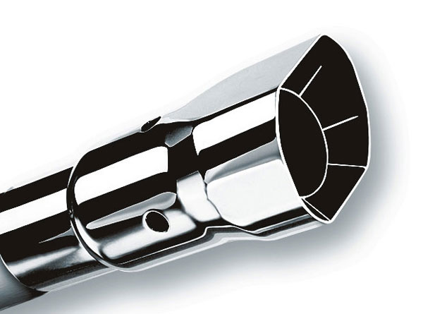 Borla Exhaust 20132 | Borla Single Square Angle-Cut Intercooled Tip (each); 1950-2011