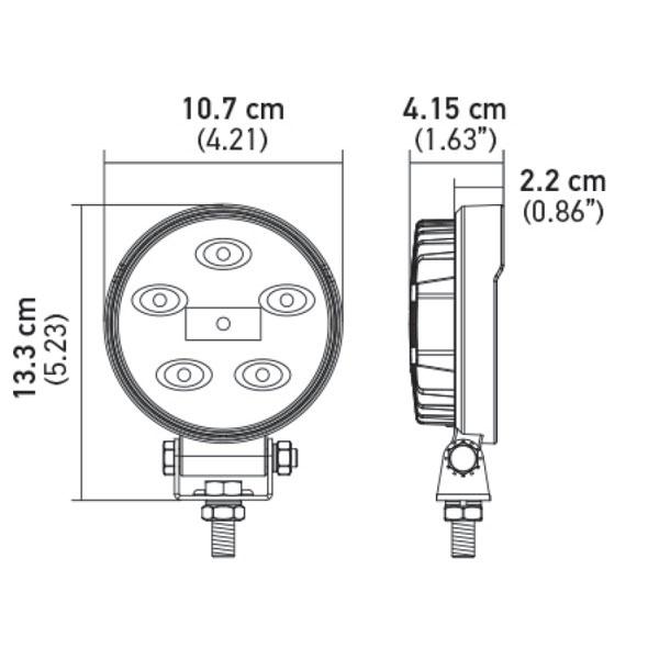 Hella 357108001   ValueFit Work Light 5RD LED MV CR LT