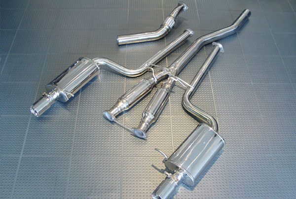 AWE Tuning 3010-32010 |  Audi A4 Avant 1.8L Turbo B6 A4 Downpipe-Back Performance Exhaust, for Tiptronic cars - Polished Silver Tips; 2002-2005