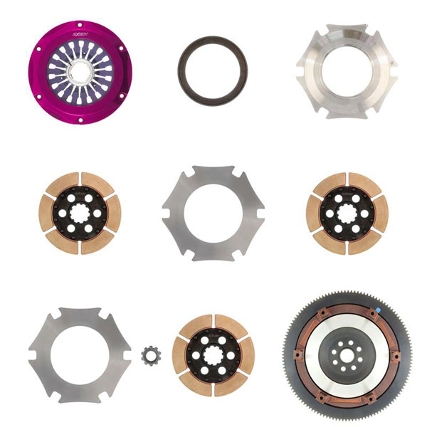 Exedy Racing FM023SB | Exedy Hyper Triple Cerametallic Clutch Kit SUBARU IMPREZA H4 2.5; Rigid Disc; Pull Type; 2004-2014