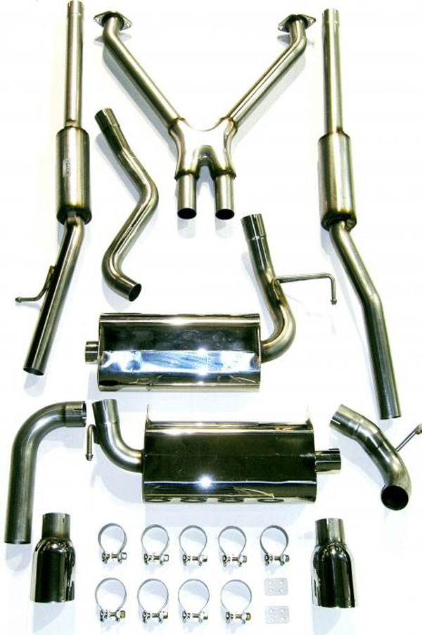 Bassani 350G5 |  Exhaust System for G35 2 dr Coupe 3.5L Stainless Steel; 2003-2007