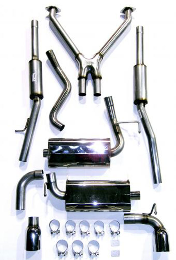 Bassani 350Z5 |  Exhaust System for 350Z 2 dr Coupe 3.5L Stainless Steel; 2003-2008