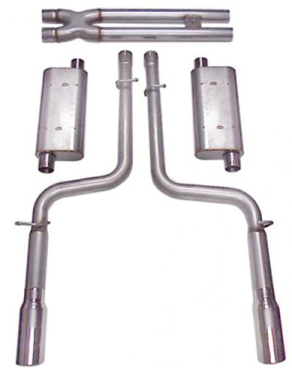 Bassani 574MAG5:  Stainless Steel Exhaust System For Dodge Magnum 2005-2006 C 5.7L HEMI