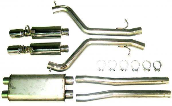 Bassani 616MAG5:  Stainless Steel Exhaust System For Dodge Charger 2006-2007 Srt-8 6.1L HEMI