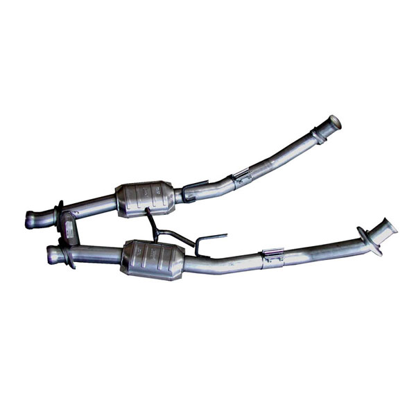 BBK 1521 |  2.5 inch Full Length H-pipe for 1986-93 Mustang GT 5.0L - W/Converters