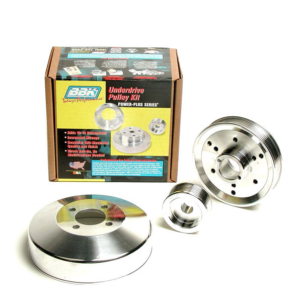 BBK 1555 |  Billet Aluminum Underdrive 3 Pulley System (March) MUstang GT V8; 1996-2001