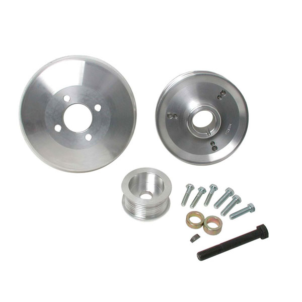 BBK 15550:  1997-04 Ford 4.6/5.4 F-Series/Expedition 3 Pc Underdrive Pulley Kit 8-Rib (Aluminum)