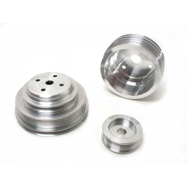 BBK (1598)  1985-87 GM 305/350 Firebird & GM Truck 3 Pc Underdrive Pulley Kit (Aluminum) V8