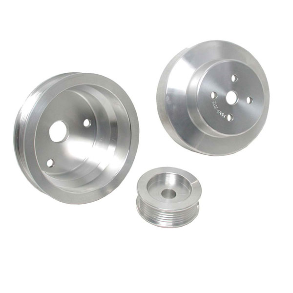 BBK 1603:  1988-95 GM Truck 4.3, 5.0, 5.7 3 Pc Underdrive Pulley Kit (Aluminum)