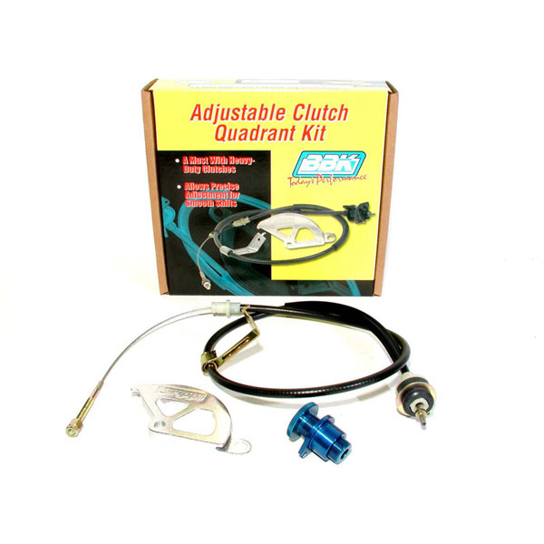 BBK 16095:  1996-04 Ford Mustang GT/Cobra Adjustable Clutch Cable / Aluminum Quadrant & Firewall Adjuster Kit V8