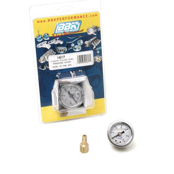 BBK 1617 |  Liquid Filled Fuel Pressure Gauge and Fuel Rail Adapter