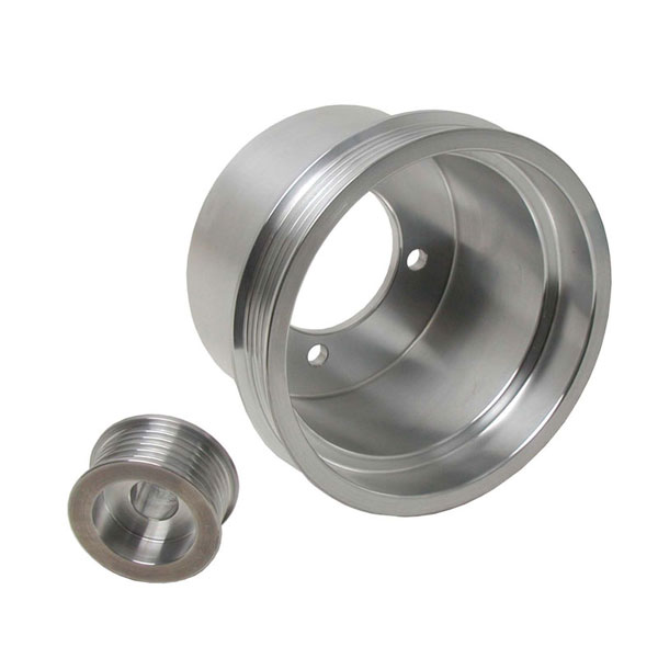 BBK 1619:  1994-98 Ford Mustang 3.8-V6 Underdrive Crank Pulley (Aluminum-1pc)