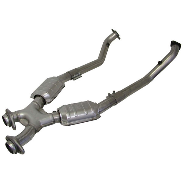 BBK (1670)  Full Length 2.5 inch crossover-pipe WITH CONVERTERS 99-04 GT/Cobra V8