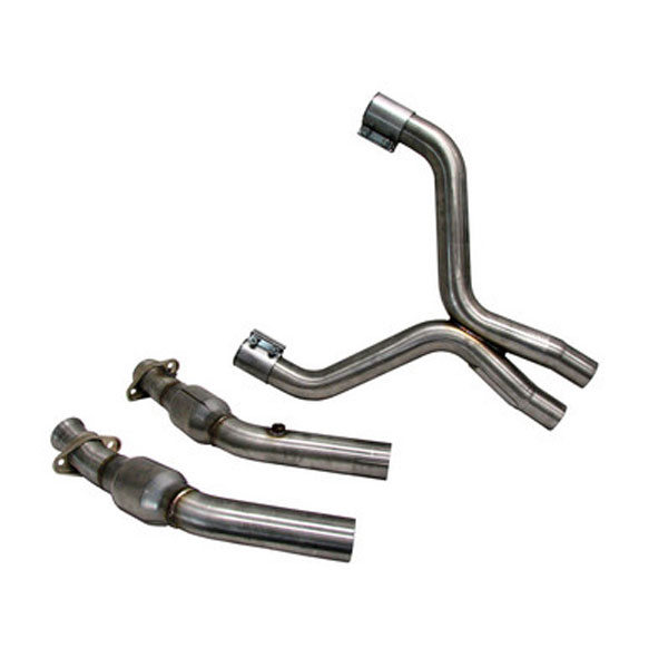 BBK 1698:  07-10 Gt500 3 Off-road X-pipe with converters not Epa Street Legal Aluminized V8