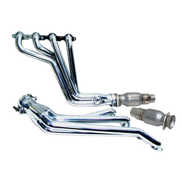 BBK 4021:  2010-15 Camaro LS3/L99 1-3/4'' Long Tube Exhaust Header (Chrome) System w/High Flow Steel Core Catalytic Converters
