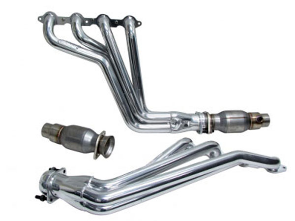 BBK 40540:  2010-15 Camaro LS3/L99 1-7/8'' Long Tube Exhaust Header (Polished Silver Ceramic) System w/High Flow Steel Core Catalytic Converters
