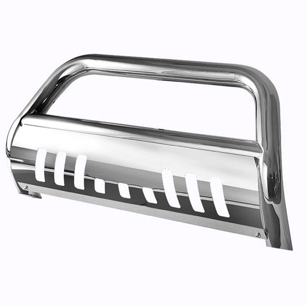 xTune BBR-DR-A02G0803:  Dodge Ram 02-05 1500 3'' Stainless T-304 Bull Bar - Chrome
