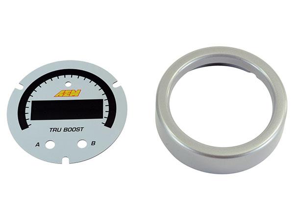 AEM 30-0352-acc   X-Series Tru-BoostX Boost Controller Gauge Accessory Kit - Silver Bezel & White Faceplate