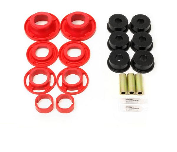 BMR Suspension BK041R | BMR Camaro Rear cradle bushing kit, street version (BK001, BK040) Red; 2012-2015