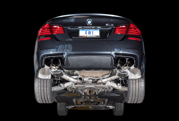 AWE Tuning 3015-43066 |  BMW M5 4.4L Turbo F10 Touring Edition Axle Back Exhaust, Diamond Black Tips, 2013-2016