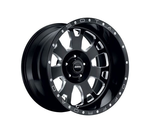SOTA Offroad 570DM-20957+00 | SOTA BRAWL 20x9 5x150 0mm Death Metal (Black Milled) Wheel; 1950-2018