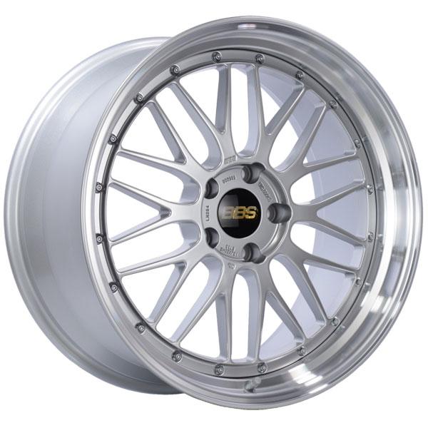 BBS LM284DSPK | LM 20x10 5x120 ET33 Diamond Silver Center Diamond Cut Lip Wheel -82mm PFS/Clip Required