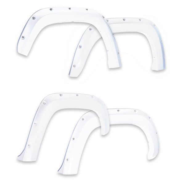 EGR 791574-gaz | 14+ Chev Silverado 6-8ft Bed Bolt-On Look Color Match Fender Flares - Set - Summit White; 2014-2020