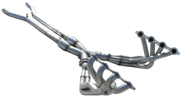 American Racing Headers C6-05200300LSWC |  Corvette C6 LongTube 2 inch 304-SS Headers with cats and x-pipe; 2005-2008
