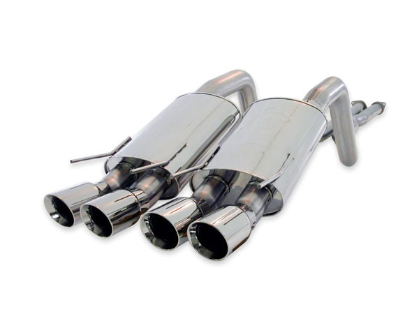 Stainless Works C6CB3SQUAD |  Corvette 3inch Complete Catback Exhaust S-Tube Quad Tips; 2005-2010