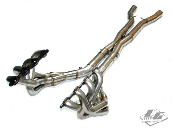 LG Motorsports C6ZSUPERPROMM: Super Pro Long Tube headers 1-7/8 Corvette C6 Z06 with Xpipe w/cats