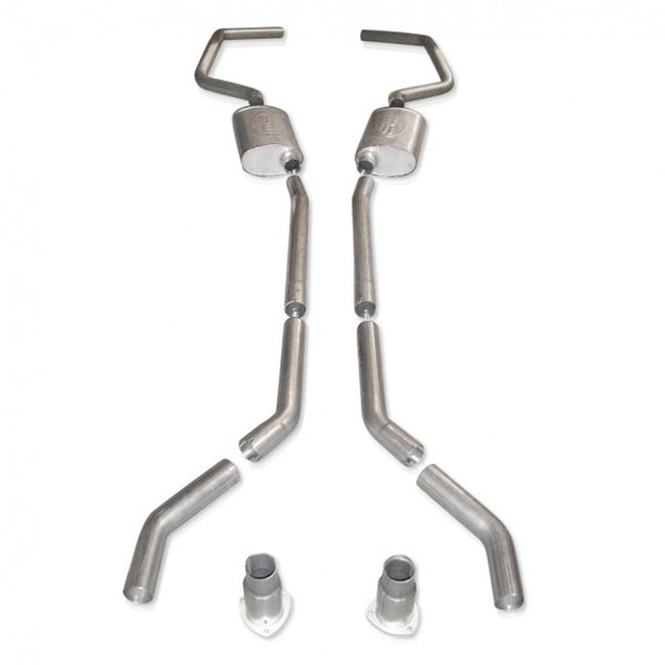 "Stainless Works CA676925S |  Chevy Camaro Exhaust 2.5"" Stainless - No X-Pipe; 1967-1969"