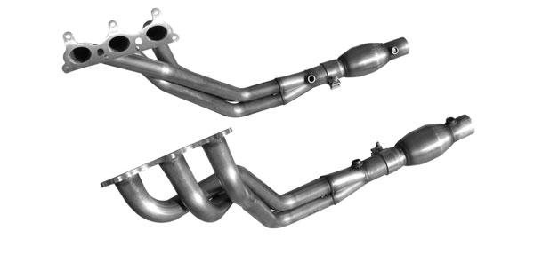 American Racing Headers CAV6-10134212SSWC:  CAMARO V6 2010-2011 SHORT SYSTEM WITH CATS: 1-3/4 x 2-1/2 Headers, 2-1/2 x 2-1/2 Short Connection Pipe With Cats