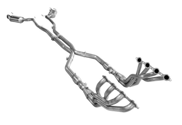 American Racing Headers CAV8-12200300FSNC |  Camaro V8 ZL1/1LE 2012-2015 Full System No Cats: 2in x 3in Header, 3in X-Pipe, Connection Pipes No Cats, Mufflers With Tips
