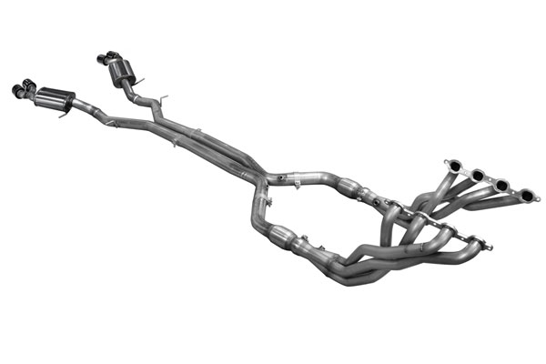 American Racing Headers (CAV8-16200300FSQNC)  Camaro 2016-17 V8 2in x 3 Full System, No Cats, Quad Tips