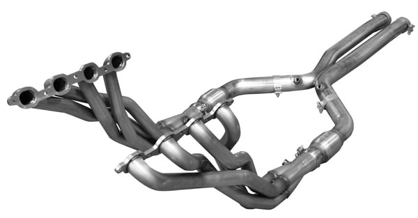 American Racing Headers CAV8-16200300ISHWC:  Camaro 2016 2 x 3 Long Tube Headers and Catted H-Pipe