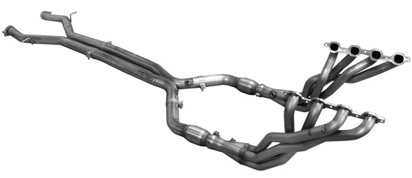 American Racing Headers CAV8-16200300LSNC:  Camaro 2016 2 x 3 Long Tube Headers and Off-Road X-Pipe and Intermediate Pipes