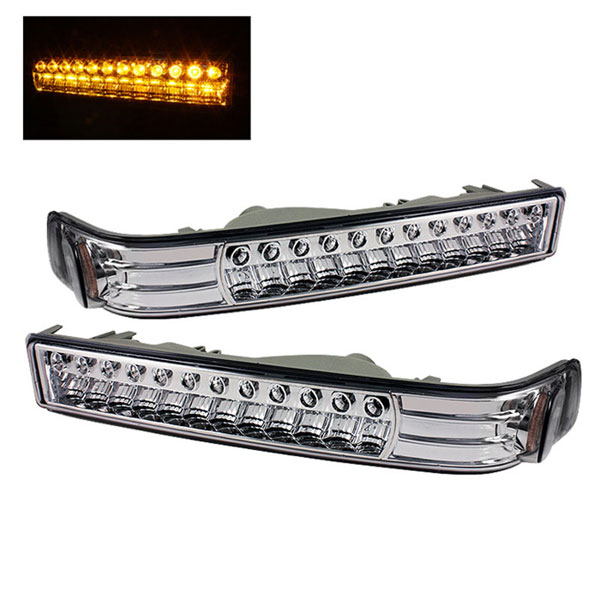 xTune CBL-CS1098-LED-E |  Chevrolet S10 / Blazer LED Amber Bumper Lights - Chrome; 1998-2003